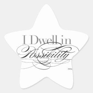 Adesivo Estrela Eu resido na possibilidade - citações de Emily