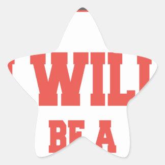 Adesivo Estrela Eu serei um Bodybuilder