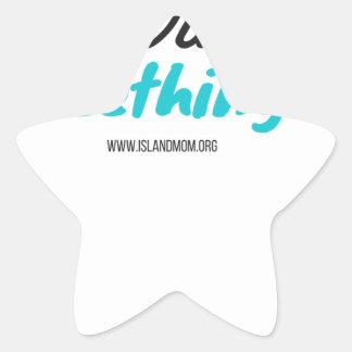 Adesivo Estrela Eu sobrevivi ao Teething - camisas de T