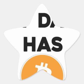 Adesivo Estrela Eu sou rico - meu pai tem Bitcoin