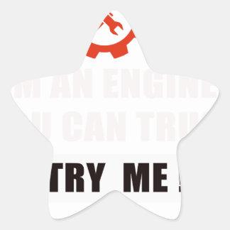 Adesivo Estrela Eu sou um engenheiro que você pode confiar