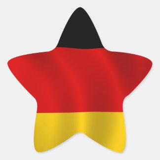 Adesivo Estrela Europeu alemão de Europa do símbolo da bandeira