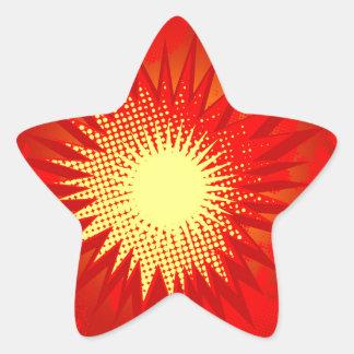 Adesivo Estrela Explosão vermelha dos desenhos animados