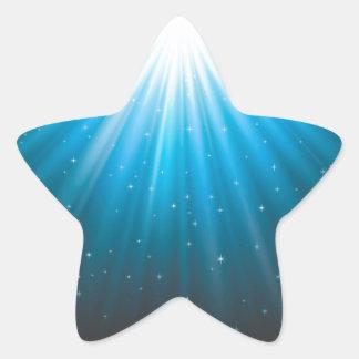 Adesivo Estrela Feixe de Sun dos raios inspirado