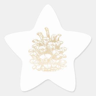 Adesivo Estrela Feliz Natal pinha j Gold