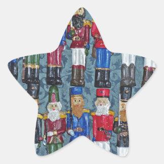 Adesivo Estrela Figuras do natal vintage, soldados idosos