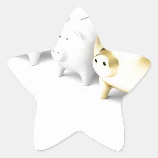 Adesivo Estrela Fileira com mealheiros
