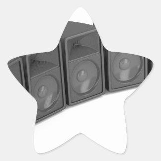 Adesivo Estrela Fileira dos auto-falante