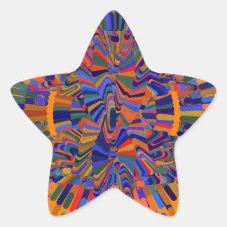 Adesivo Estrela Flor abstrata