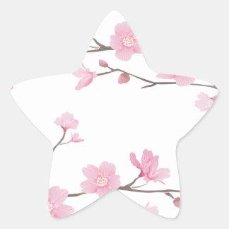 Adesivo Estrela Flor de cerejeira - Transparente-Fundo