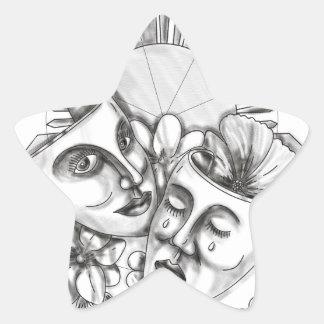 Adesivo Estrela Flor S filipino de Sampaguita do hibiscus da