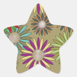 Adesivo Estrela Floral Fantasy