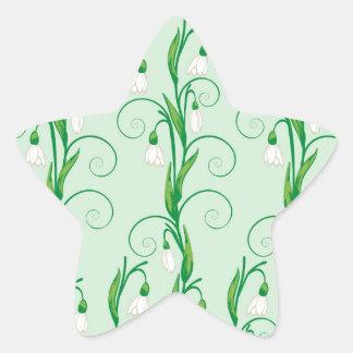 Adesivo Estrela Flores brancas de Snowdrop