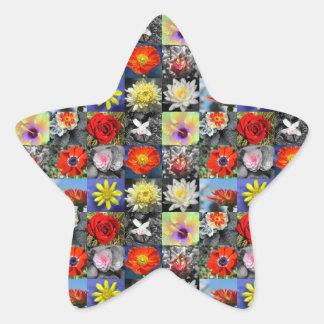 Adesivo Estrela Flores do amor