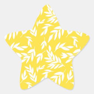 Adesivo Estrela Flores no amarelo do mel