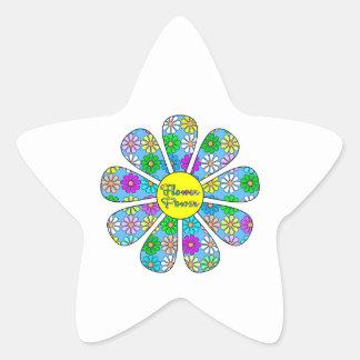 Adesivo Estrela Flower power feliz