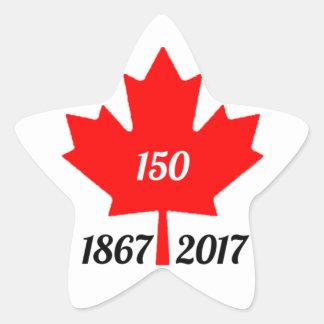 Adesivo Estrela Folha de bordo de Canadá 150 em 2017