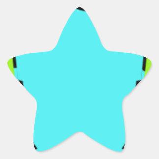 Adesivo Estrela Fones de ouvido vestindo-se coloridos