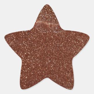 Adesivo Estrela Foto macro do vidro de Goldstone