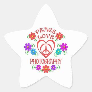 Adesivo Estrela Fotografia do amor da paz