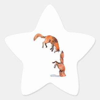 Adesivo Estrela Fox vermelho de salto