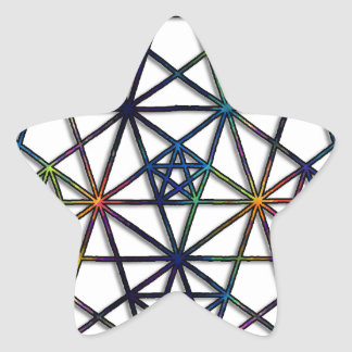 Adesivo Estrela Fractal sagrado da geometria da abundância da vida