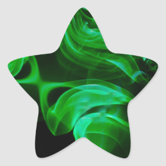 Adesivo Estrela Fractal verde do cetim