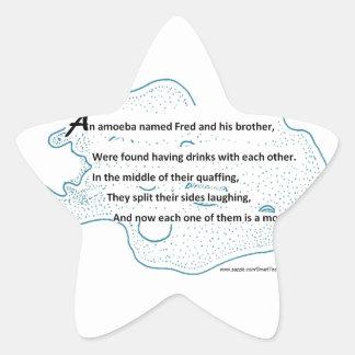 Adesivo Estrela Fred a ameba - um poema da ciência de