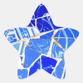 Adesivo Estrela Fundo azul abstrato