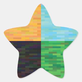 Adesivo Estrela fundo colorido