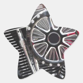 Adesivo Estrela Fundo cromado motocicleta do detalhe do motor