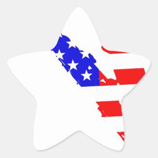 Adesivo Estrela Fundo da bandeira do saxofone