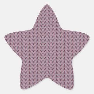 Adesivo Estrela Fundo de confecção de malhas listrado 2