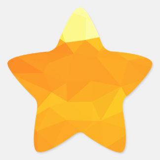 Adesivo Estrela Fundo do polígono do abstrato do amarelo do Cyber