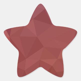 Adesivo Estrela Fundo do polígono do abstrato do roxo do amaranto