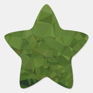 Adesivo Estrela Fundo do polígono do abstrato do verde da