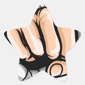 Adesivo Estrela Furo de perfuração do punho