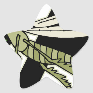 Adesivo Estrela Gafanhoto da armadilha