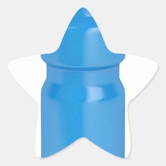 Adesivo Estrela Garrafa plástica azul
