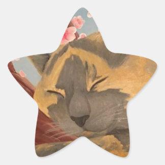 Adesivo Estrela Gato do sono da flor de cerejeira