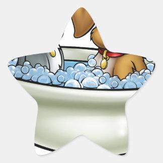 Adesivo Estrela Gato e cão dos desenhos animados no banho