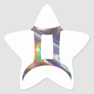 Adesivo Estrela Gêmeos do holograma
