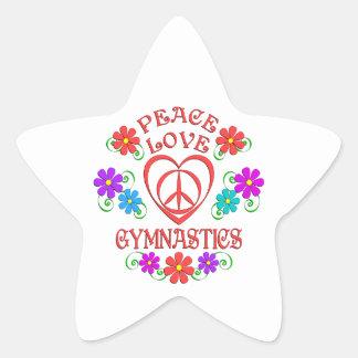 Adesivo Estrela Ginástica do amor da paz