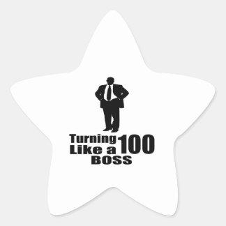 Adesivo Estrela Girando 100 como um chefe