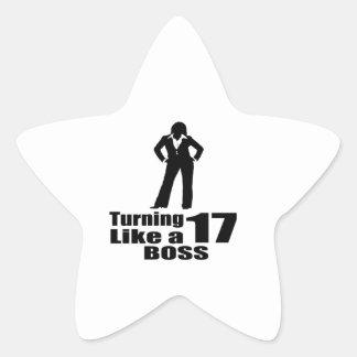 Adesivo Estrela Girando 17 como um chefe
