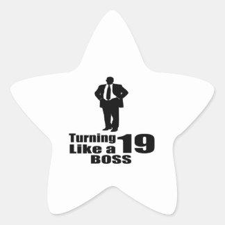 Adesivo Estrela Girando 19 como um chefe