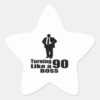 Adesivo Estrela Girando 90 como um chefe