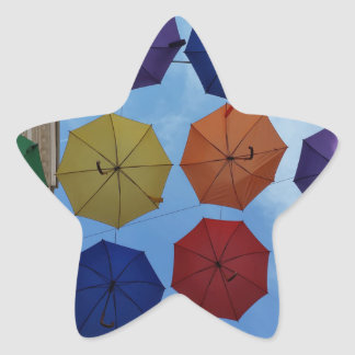 Adesivo Estrela Guarda-chuvas coloridos