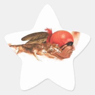 Adesivo Estrela Guerreiro indiano Cherokee do clã do lobo do