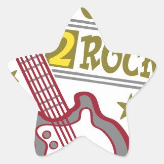Adesivo Estrela Guitarra nascida da rocha, design do guitarrista